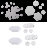 200 Pieces Hexagon Paper Piecing Template for DIY Quilting Arts Handmade