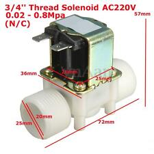 "3/4"" AC 220V Electric Solenoid Valve Water Control Diverter Device Magnetic N/C"