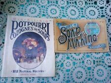 Vintage Soap Making Books 1984 & 1988 Candles Potpourri