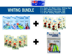Ultimate Whiting Rig Big Bundle Pack Super UV Rigs - Flasher Rigs - DIY UV Hooks