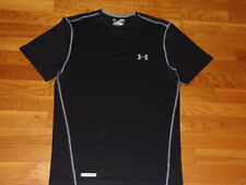 New Under Armour Heatgear Black Fitted Jersey Mens Medium