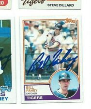 1983 SIGNED BILL FAHEY TOPPS TIGERS