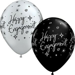 Party Supplies Decorations Happy Engagement Sparkle Latex Balloons Pack of 10