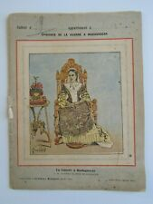 COUVERTURE CAHIER - - - EPISODES GUERRE A MADAGASCAR = S M RANAVALO III Reine