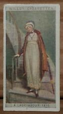 VINTAGE WILLS CIGARETTE CARDS ENGLISH PERIOD COSTUMES # No 43 NUMBER X1 b8