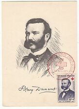 CARTE MAXIMUM TIMBRE FRANCE N° 1188 CROIX ROUGE J HENRY DUMANT
