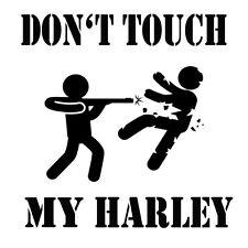 Don't Touch my Harley Motorad Bike Chopper Aufkleber Sticker Folie Logo Decor
