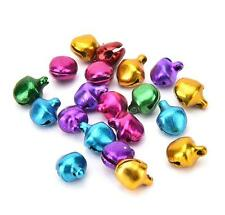 100Pcs Colorful Small Jingle Bells Iron Loose Beads Christmas Decoration Crafts