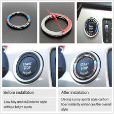 Carbon Fiber Engine Switch Start Stop Button Ring Cover Trim For BMW E90 E92 E93
