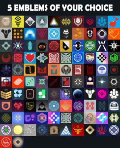 Destiny 2 Five Emblem of your Choice PS4/PS5/XBOX/STADIA/PC READ DESCRIPTION!