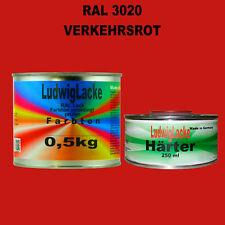 RAL 3020 Verkehrsrot Acryllack 0,75 kg glänzend mit Härter Decolack