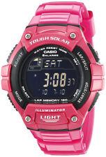 Casio WS220C-4BVCF Tough Solar Black Digital Dial Pink Resin Strap Women's Watch
