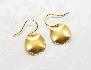 Ohrringe GRACIE Messing goldfarben Discs Kreise Dot Dots handmade geometrisch
