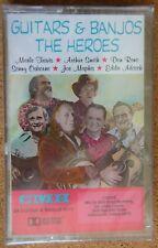 Guitars & Banjos:The Heroes-Various Artists-24 Guitar & Banjo Hits Cassette  NIP