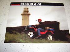 1  1988 Kawasaki KLF300 4X4 Brochure NOS 4 Pages.