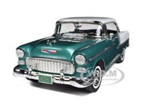 1955 CHEVROLET BEL AIR HARD TOP GREEN 1/18 DIECAST MODEL CAR BY MOTORMAX 73185