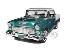 1955 CHEVROLET BEL AIR HARD TOP GREEN 1/18 DIECAST MODEL CAR BY MOTORMAX 73185