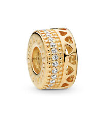 Pandora Shine Charm Spacer Hearts of Pandora 767415CZ Silber/18K Gold ALE