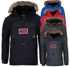 Geographical Norway Herren Warme Winter Jacke SchlupfJacke Parka windbreaker NEU