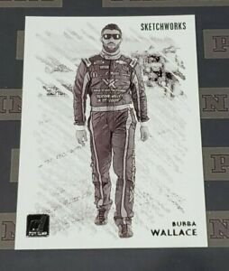 2021 Donruss Nascar Racing Bubba Wallace Sketchworks SSP Case Hit Insert RARE