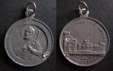medalla religiosa antigua SAN FRANCISCO JAVIER CASTILLO medal religious