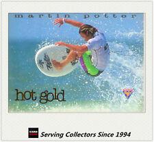 "1995 Futera Australia HOT SURF Trading Cards HOT GOLD ""SAMPLE"" HG4:Martin Potter"