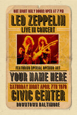 your name on a Led Zeppelin concert poster! - personalized gift!