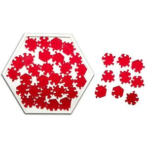 Nearly Impossible Hexagon Jigsaw Puzzle - Level 10 Extremely Difficult