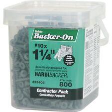 """2x Backer-on Tile Cement Board Screws #10x 1 1/4"""" 800 Count Durock Wonder-board"""