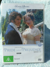 PRIDE AND PREJUDICE EPISODES 1-3 BBC  DVD G R4
