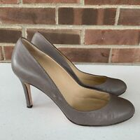 Ann Taylor grey leather high heel pump heels women's size US 8.5 M