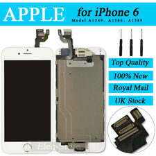 """White Screen For iPhone 6 4.7"""" Replacement Digitizer Touch LCD Gold Home Button"""
