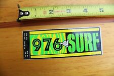 976-Surf Surfline Neon 80's Surf Report Hotline Tag V6 Vintage Surfing Sticker