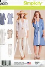 Simplicity Sewing Pattern 8059 Misses 4-26 Duster, Pants, Knit Dress, Tunic, Top