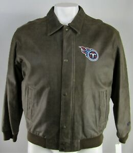 Tennessee Titans NFL G-III Men's Full-Zip Full-Button Leather Jacket