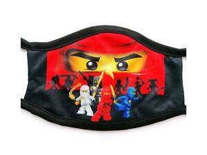 Washable Cotton Kids Face Ninja Go 2 Mask Reusable Cloth Mouth Cover UK
