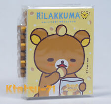 Rilakkuma Pata Pata Pata Memo pad with 6 Mini Eraser Kigurumi series San-X 39001