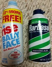 Rise Baby Face Shave Foam 14.75 oz Barbasol Soothing Aloe 11 oz.