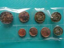 Série Chypre Euros de 1 ct à 2 Euros 8 monnaies qualité UNC.