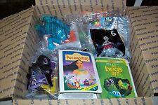 McDonalds Disney Pixar Kids Meal Toys New In Packs + 4 Happy Meal Boxes & 1 Bag