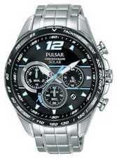 Relojes de pulsera solar de acero inoxidable de acero inoxidable