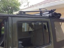 Jeep Wrangler Sunrider Soft top BLACK hook n loop Tie Down Straps for 2007-2017