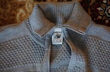 WORN TWICE! S.N.S. SNS HERNING FISHERMAN ZIP SWEATER GREY GRAY MIX CARDIGAN $395