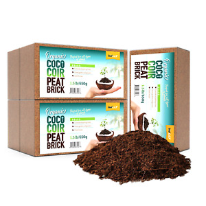 Organic Coco Coir Bricks Coconut Fiber for Growing Natural Seed Starter 5 Pack