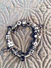 Authentic Pandora Charm Bracelet: Black/white