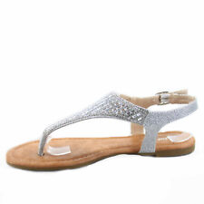 Women's Fashion Sexy Summer  Flat Heel Rhinestone  Sandals Shoes Size 5 - 10 NEW