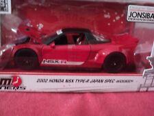 Jada 2002 Honda NSX Type-R Japan Spec Widebody 1/24 scale NIB red exterior