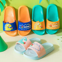 Kids Baby Boys Girls children Cute Cartoon Indoors Slippers Beach Shoes Sandals
