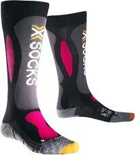 X-Bionic sci INTAGLIO ARGENTO donna sci calzini, UK 2.5-3.5
