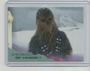 Topps Solo: A Star Wars Story Silver Trading Card #50 Chewbacca on Vandor-1